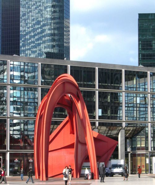 Greater Paris, The red Spider, by Calder, La Défense