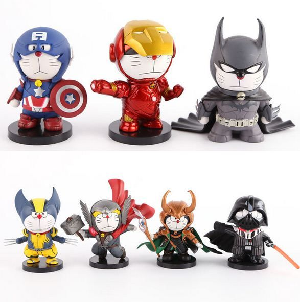 Anime Cartoon Doraemon Cosplay Star Wars Darth Vader Thor Captain America Iron Man Batman Action Figures //Price: $19.90 & FREE Shipping //     #actionfigure