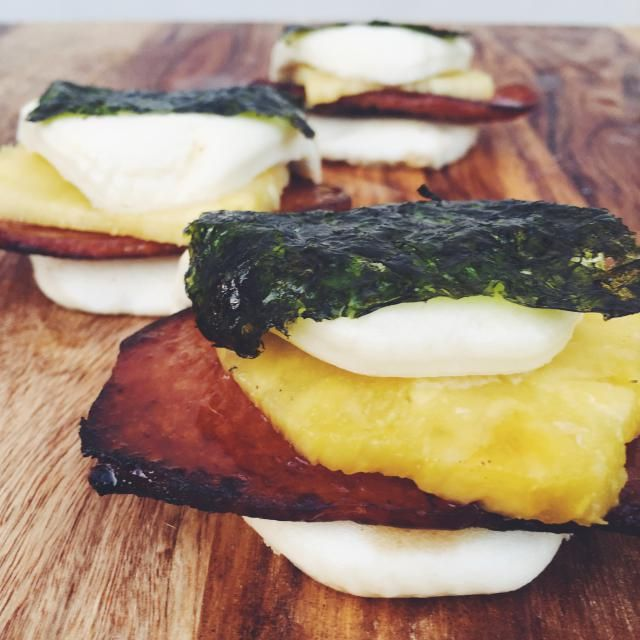 6 Steamed Bun Recipes for Carnivores: Masubi Steamed Buns with Pineapple and Teriyaki Spam