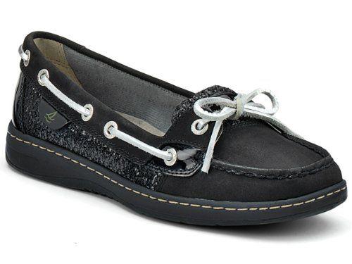 Sperry Women's Angelfish Shoes Black/Black Glitter