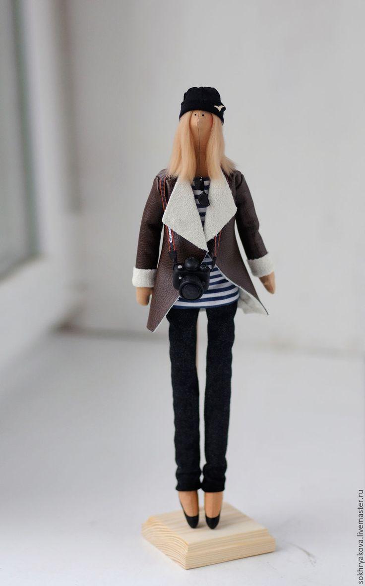 Купить Портретная кукла в стиле Тильда. - комбинированный, кукла, тильда, портрет, портретная кукла ♡