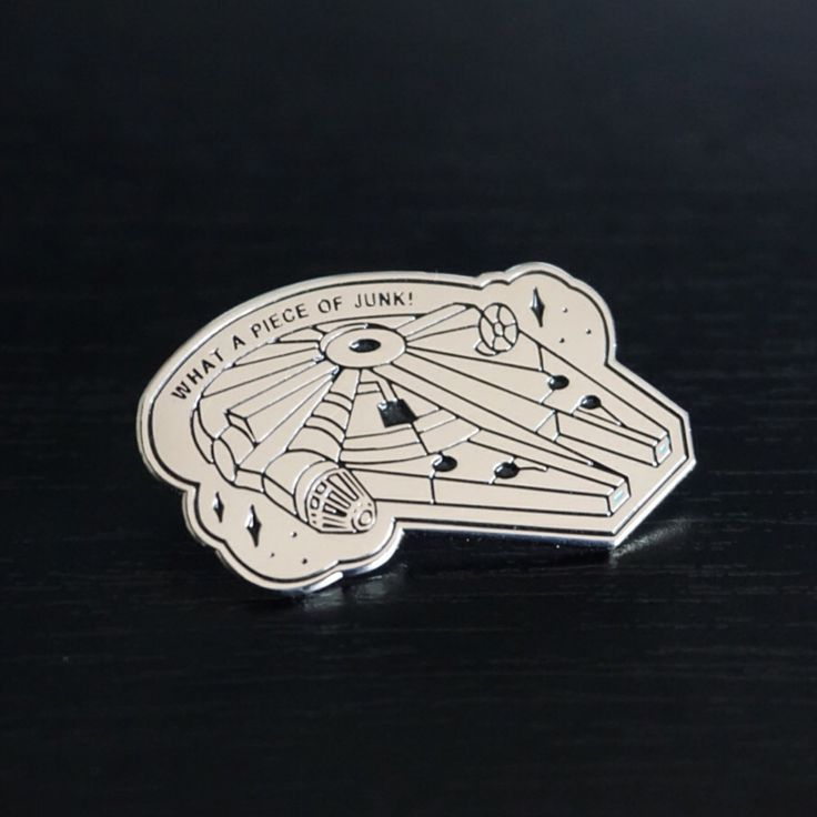 The Millenium Falcon is back! In the form of this perfect lapel pin just in time for the release of Episode VII this month! This enamel pin (35mm x 20mm) is perfect on any piece of clothing, hat, jacket + more & features a black rubber clutch for that extra hold.