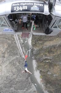 Nevis Bungy, 134m above ground level.