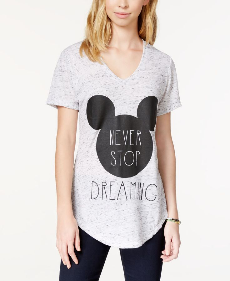 Freeze 24-7 Juniors' Disney Mickey Mouse Dream Graphic T-Shirt