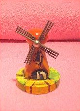 "1 7/8"" wooden windmill."