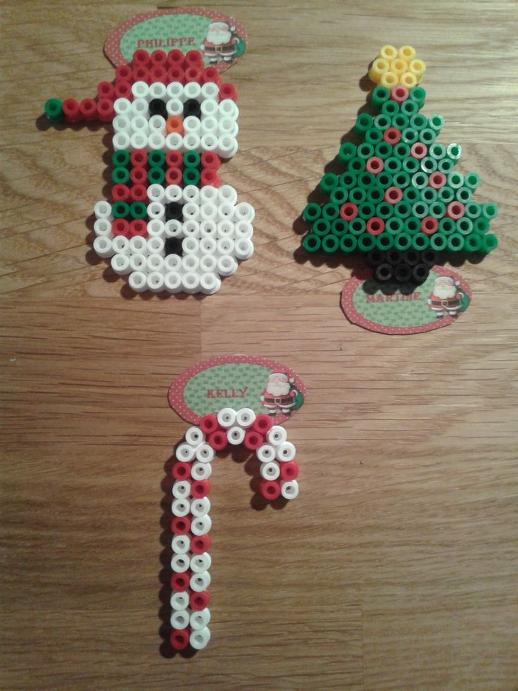 Marque place Noël perles à repasser