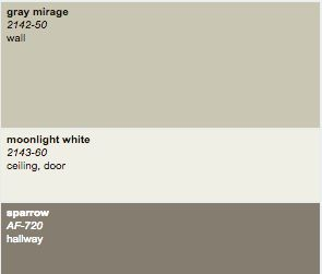 bm moonlight white and sparrow- Decorating Tips, Interior ...