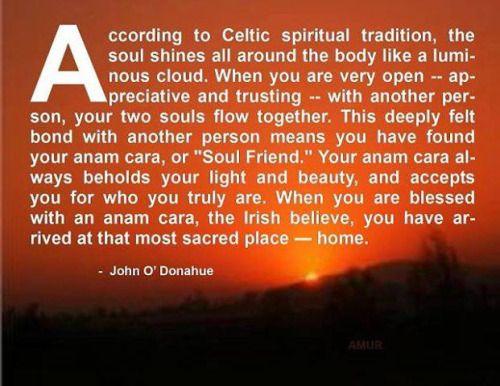 Anam Cara-- Irish soul mate