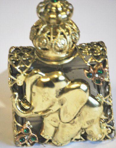 Czech Victorian Style Decorative Elephant Glass Perfume/oil/holy Water Bottle Holder