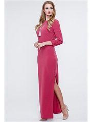 Платье VICTORIA VEISBRUT  Эффектное макси-платье для особых случаев выполнено из стрейчевого плательного крепа средней плотности мягкого и приятного на ощупь. Силуэт полуприлегающий юбка прямая. В боковом шве юбки выполнен эффектный высокий разрез. Изюминка платья-глубокий V-образный вырез на спинке обрамленный драпированным запахом. Спереди лаконичная горловина-лодочка. В боковом шве предусмотрена потайная застежка-молния. Оригинальная дизайнерская модель для выхода в свет.. Платье VICTORIA…