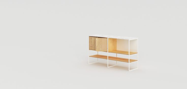 600 Series is a minimalist design created by Netherlands-based designer Modiste Furniture. The product is a modular credenza that comes in two size and color variations, consisting of crisp powder coated frames, high quality veneered panels, and topped off with a pristine marble or granite top. (5)