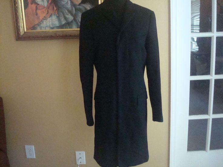 NWT J. Crew  Men Factory Thompson Mens Top Coat Black In Wool 36 Black  # 02201 #JCrew #Topcoat