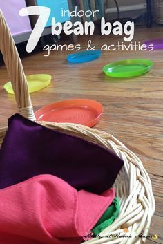 7 INDOOR BEAN BAG GAMES AND ACTIVITIES. Stay warm and cozy inside while still getting the kids moving and having gun with these educational and challenging bean bag games