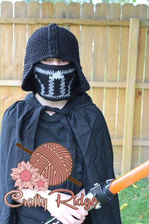 Knitting Pattern Darth Vader Hat : 17 Best images about Star wars crochet on Pinterest Knitting, Wickets and X...