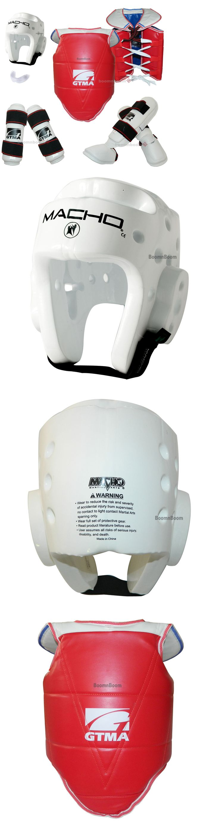 Head Gear 179780: New Complete Taekwondo Sparring Gear Set 7Pc Deluxe Protector Karate Guard Set BUY IT NOW ONLY: $86.99