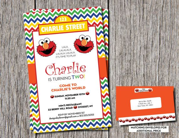 ELMO Birthday Invitations...1st, 2nd or even 3rd