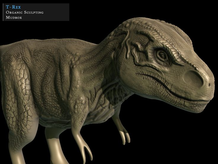 (WIP) T-Rex sculpted in Mudbox