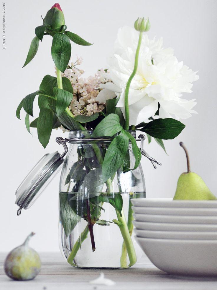 KORKEN voorraadpot | Deze pin repinnen we om jullie te inspireren. #IKEArepint #IKEA #weckpot #vaas