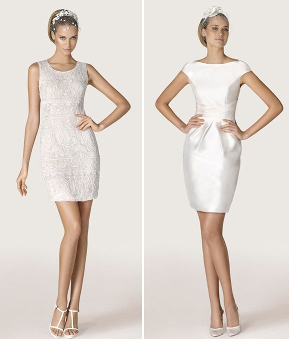 Boda a la vista » Vestidos cortos para novias atrevidas