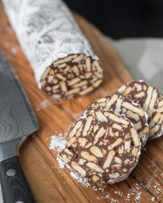 Chocolade salami Dutch arretjescake
