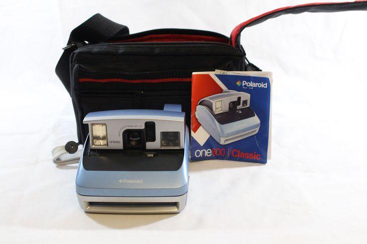 Polaroid One 600 Blue Instant Film Camera Strap Carrying Case Light Blue   #Polaroid