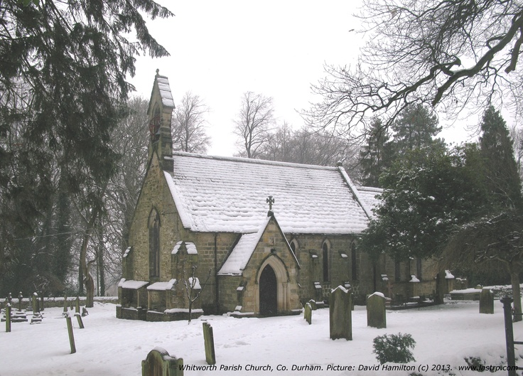 Whitworth Parish Church, Co. Durham, with a dusting of snow.  Would this make a suitable Christmas Card cover?  I would appreciate your comments.