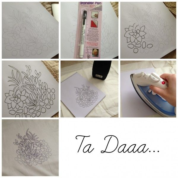Embroidery how to transfer pattern patterns irons and