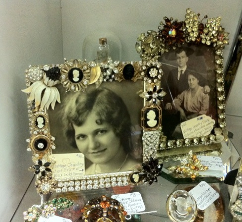 frames and vintage jewelry