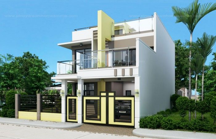 Two Storey Small House With Roof Deck
