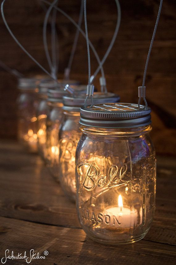 These 5 Mason Jar Candle Holders give any space some encapsulating beauty. They are perfect to illuminate the evening barbecue, bohemian style