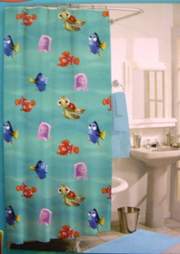 1000 images about shower curtains on pinterest shower for Finding nemo bathroom ideas