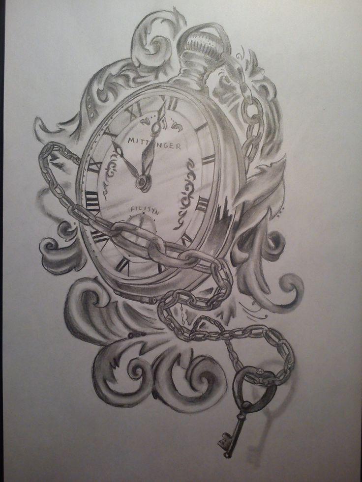 Taschenuhr skizze  146 besten reloj Bilder auf Pinterest | Tattoo-Designs, Beobachten ...