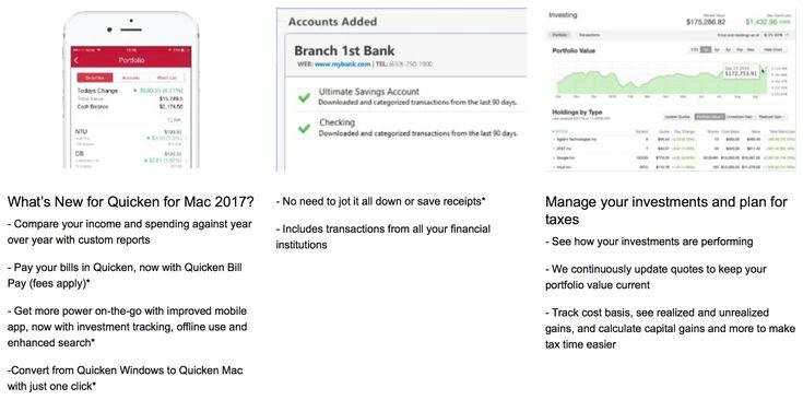 #Quicken2017 #new features.