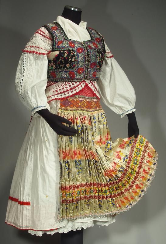 Complete Woman's Slovak Folk Costume from Tisovnik by ethnicdress