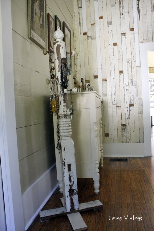 Repurposed Porch Post Jewlelry Tree by Living Vintage via Prodigal Pieces www.prodigalpieces.com #prodigalpieces