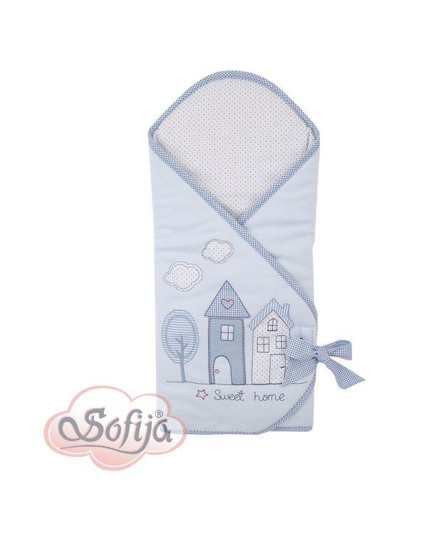 Rożek dla dzieci z kolekcji Muffi - kolor niebieski  www.sofija.com.pl #dziecko #pościel #bawełna #pokójdziecka #kids #kinder #baby #bettwäsche #ребенок #номерребенка