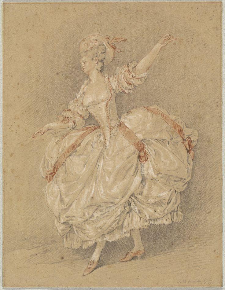 Jean-Michel Moreau, called Moreau Le Jeune, 'A Dancer', 1777