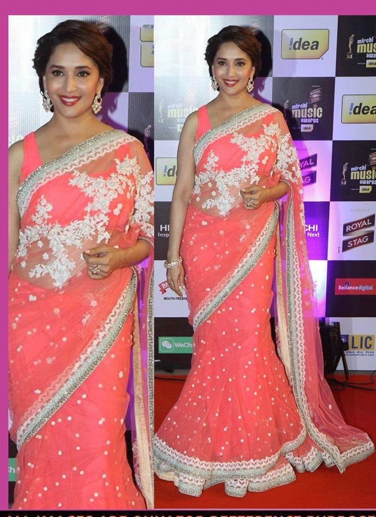 Check this new #Pink Georgette Indian #Bollywood Designer #Saree  Shop Now http://goo.gl/MJCpB9   #Fresharrival