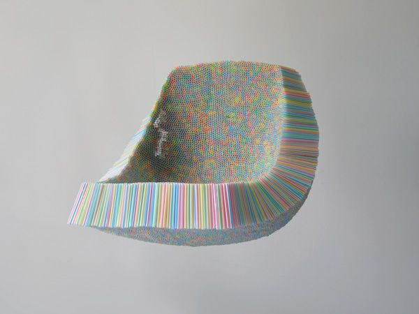 A Chair Made From 10,000 Drinking Straws