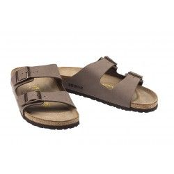 BIRKENSTOCK - Sandales Arizona marrons