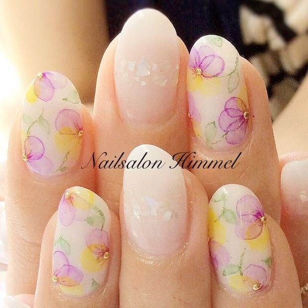 watercolor nail - Locari
