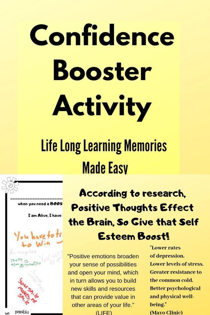 Confidence Self Esteem Group Activity for Positive