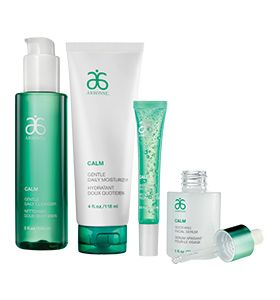 Calm Skin Care Set - Clinically tested, Calm is formulated to help provide hydrating relief from tightness, dryness and discomfort. With 80% food grade ingredients, these extra gentle formulas help calm and soothe sensitive skin that is easily irritated.