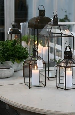 Decorate for cold winter nights with lanterns in different designs from tinekhome.com