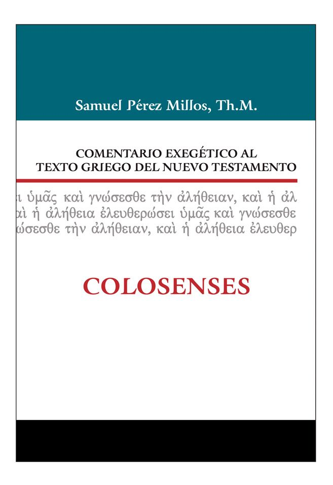 ISBN:978-84-8267-902-0 Leer el primer capítulo. http://www.clie.es/wp-content/uploads/9788482679020_Colosenses_1_capitulo.pdf
