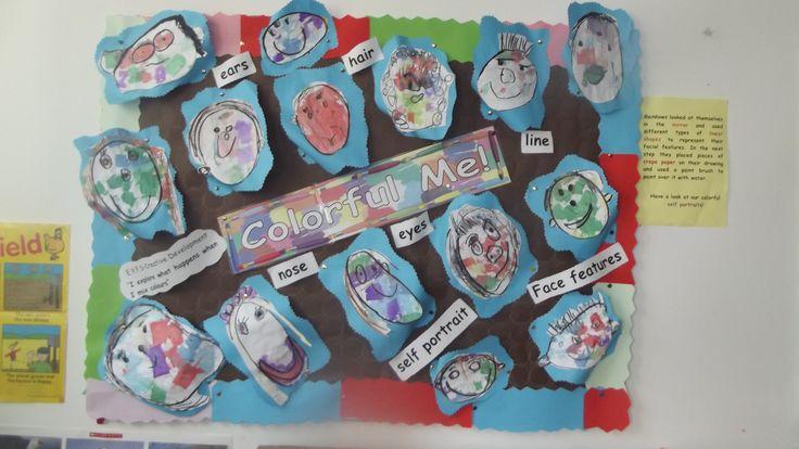 Colourful Self Portraits in Rainbows @ Acorns Nursery Bucharest
