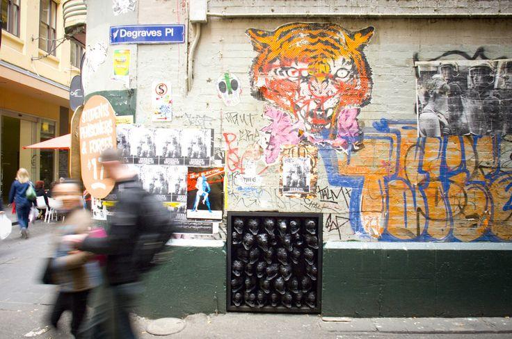 view Melbourne's famous street art.