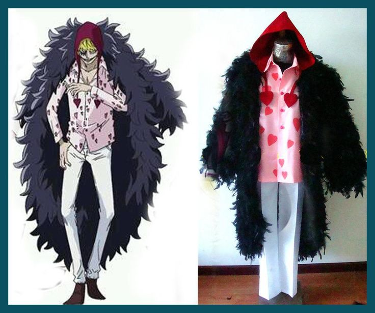 One Piece Donquixote Rosinante Corazon Cosplay Costume for Sale top+pant+coat