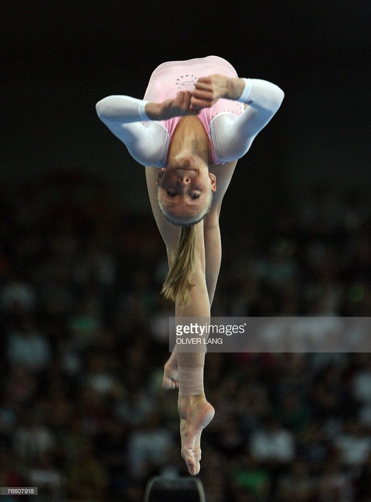 Anastasia Liukin of the US competes on the beam during the women's apparatus final on the beam of the 40th World Artistic Gymnastics Championships 09 September 2007 in Stuttgart, southern Germany. Anastasia Liukin of the US won the competition, Steliana Nistor of Romania and Li Shanshan of China both placed second.