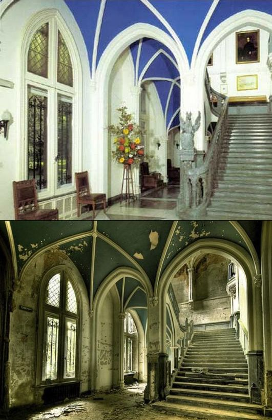 Chateau De Noisy (Miranda Castle) Belgium  ~ ♥ #abandoned #ruins #architecture A little before and after I put together.